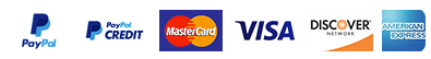 Payment methods that we accept.